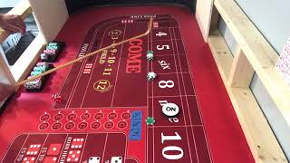 Craps strategy tournament sweet 49 with house money against feed the 6&8  video 2 of 7.