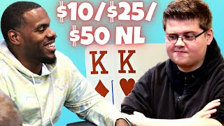 High Stakes Live Poker Cash Game $10/$25/$50 NL   TCH LIVE Dallas!
