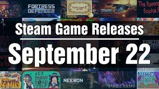 New Steam Games – Wednesday September 22 2021