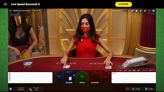 Win Big Cash Baccarat Strategy 2 using hit and run with minimum 34 unit bankroll Day 1
