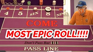 🔥 MOST EPIC ROLL 🔥 30 Roll Craps Challenge – WIN BIG or BUST #68