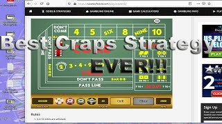 Best Craps Strategy ever