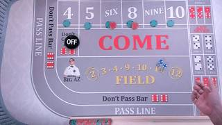 """85% Success Rate= """"My Hit and Run"""" Craps Strategy"""