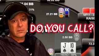 DO YOU MAKE THE CALL?: Online poker tournament hand analysis including pot odds, EV, Risk to Reward.
