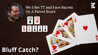 Poker Strategy: We 3 Bet TT and Face Barrels On A Paired Board