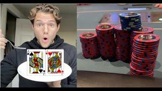 GETTING FED POCKET JACKS!! | POKER VLOG #2