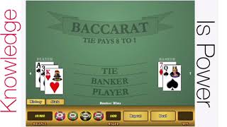 Baccarat winning strategy demonstration.