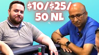 High Stakes Poker Cash Game | $10/25/50 NL Texas Hold'em  | TCH LIVE!